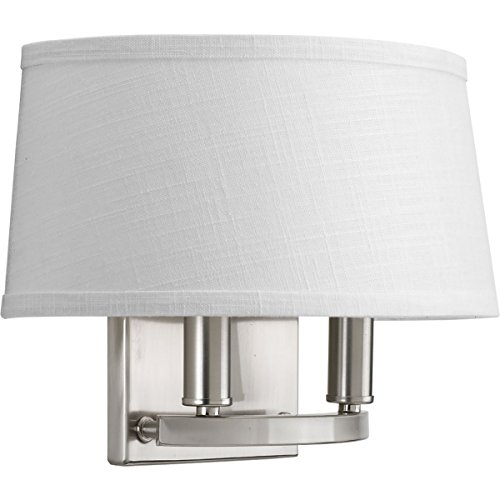(Progress Lighting P7172-09 Traditional/Formal 2-60W Cand Wall Sconce, Brushed Nickel)