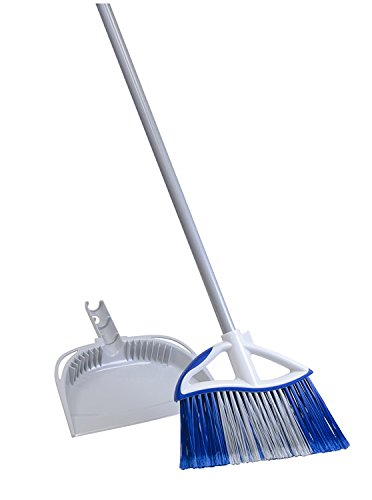 Quickie Dual Action Angle Broom With Dustpan
