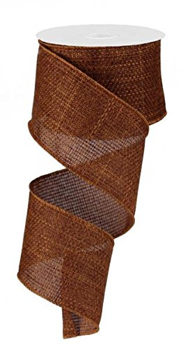 - EXPRESSIONS Rust Brown Cross Royal Burlap Wired Edge Ribbon (2.5