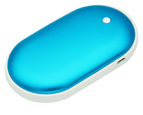 Joysoul Rechargeable Double-sided Hand Warmer 5200mAH Power Bank Portable Pocket Hand Heater USB Mobile External Back up Battery Charger (blue)