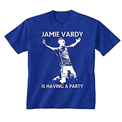 CHAMTEE Youth Kids Childrens Jamie Vardy is Having A Party Leicester City Football T-Shirt
