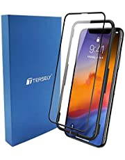 TERSELY 6D Full Coverage Screen Protector for Apple iPhone 11 Pro Max/Xs Max, Full Cover Tempered Glass Screen Protector for Apple 11 Pro Max/Xs Max (6.5 inch)[Case Friendly] - Black