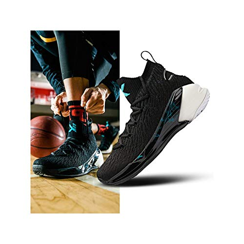 Anta kt4 Thompson Basketball Shoes Men's Shoes 2019 Summer New Official Website Flagship high to Help Shoes Men's Sports Shoes 5, 42, Anta White Black Retro Green (Fluorescent)-1