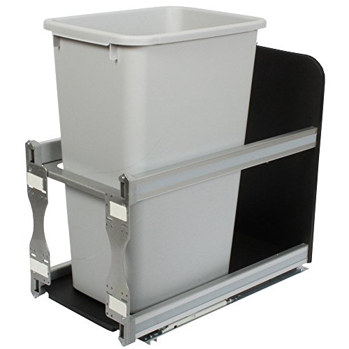 Knape & Vogt USC12-1-50PT in-Cabinet Soft Close Pull Out Trash Can, 23.25 by 11.81 by - 50 Quart Pull