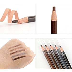 Waterproof Eyebrow Pencils - 12 Piece By Stylia Beauty: Peel-Off Brow Pencil Set For Marking, Filling And Outlining, Tattoo Makeup And Microblading Supplies Kit-Permanent Eye Brow Liners In 5 Colors