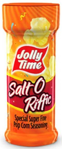 - Jolly Time - Salt O Riffic Reese Popcorn Salt, (Special Super Fine Salt - New Label but SAME Reese Ingredients) Buy SIX Jars and Save, Each Jar is 4 Oz (Pack of 6)