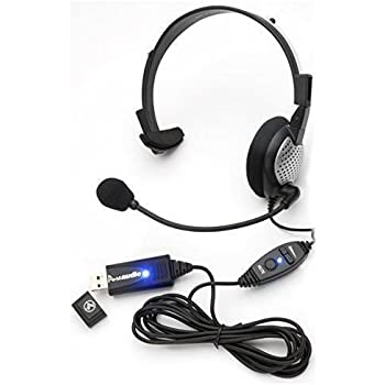 Nuance Dragon NaturallySpeaking USB Headset with Noise Cancelling boom Microphone