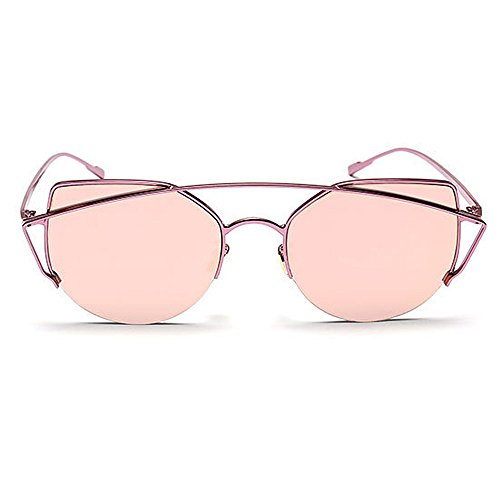 en Air Rimmed Les Metal Protection Soleil Gracieux De Cat Pink Plage Clear Marron Femmes UV Vacances Plein Yeux Conduite Gu Lunettes Été pour Peggy Full pour Couleur ExIqaUnw