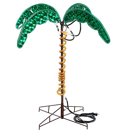(Roman Lights Ropelight Palm Tree 2.5' Tall, Indoor and Outdoor Use)