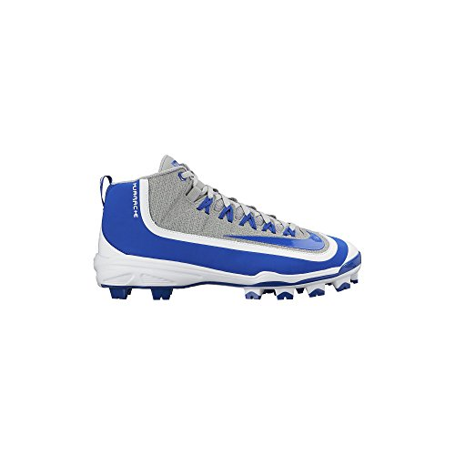 NIKE Men's Huarache 2KFilth Pro Baseball Cleat Wolf Grey/White/Game Royal Size 7 M US