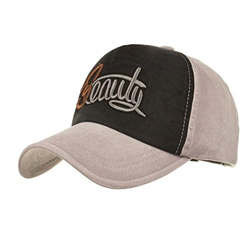 e7aab3508 Brezeh Summer Caps, Men Women Fashion Embroidered Letters Casual Denim  Baseball Cap Snapback Hip Hop Flat Hat Outdoor Sports Cap Baseball Hat