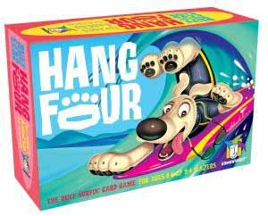 Hang Four Card Game, the Ruff Surfin' Card Game