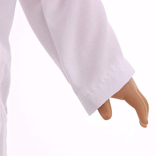 Zeagro Puppenkleidung Puppenkleidung Kleid Outfit Arzt Kleidung Set f/ür 18 Zoll American Girl Doll Geschenk