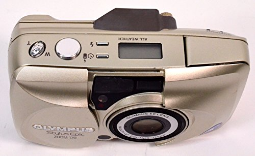 - Olympus Stylus Epic Zoom 170 Deluxe QD Quartz Date 35mm Film Flash Point & Shoot Camera with Olympus ED Lens Multi-AF ZOOM 38-170mm 35mm Film Camera (Gold Color Version)
