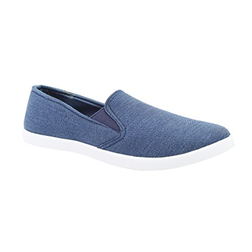 Womens Kim Slip Ons (Shoe Vibe Kim Womens Casual Canvas Slip-On Sneaker With Patches)