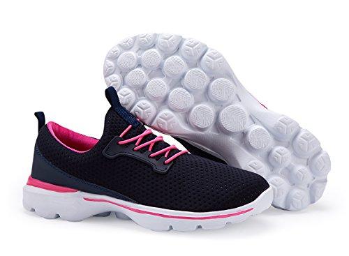 Xinbeige Kvinners Lette Tennissko Pustende Walking Joggesko Sport Yoga Jogging Joggesko, Mørk Blå, Us 10,5 = Eu 41 Womens