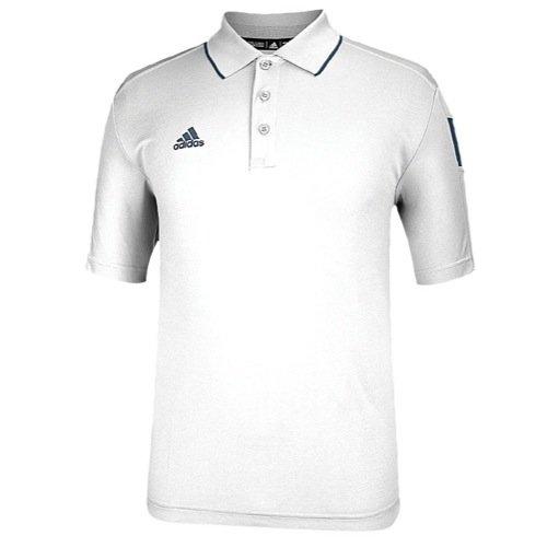 adidas Men's Climalite Shockwave Sideline Polo (White/Onix Grey, 3X-Large, Regular) (Sideline Adidas Polo Shirt)