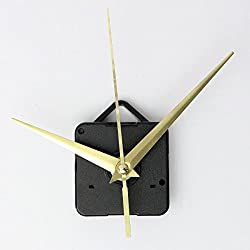 Clocks - Diy Gold Hands Quartz Clock Movement Mechanism Parts Tool Set - 1PCs