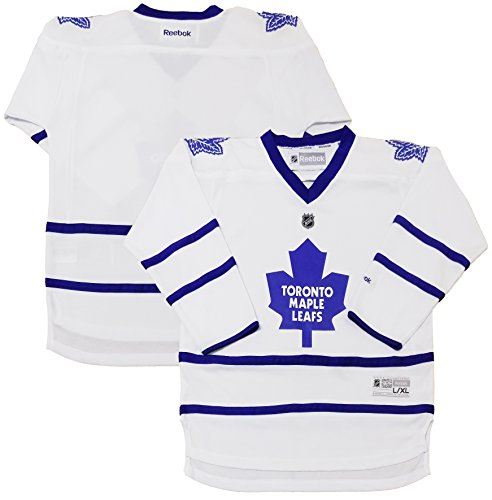 Toronto Maple Leafs Blank White Youth Reebok Away Replica Jersey (Youth Large/X-Large)