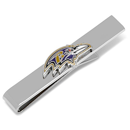 Baltimore Ravens Cufflinks (NFL Mens Tie Clip Baltimore Ravens Head Tie Bar)