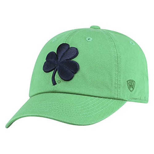 Top of the World NCAA Mens College Town Crew Adjustable Cotton Crew Hat Cap (Notre Dame Fighting Irish-Kelly Green With Shamrock, Adjustable)