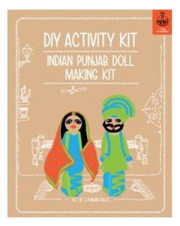Buy diy indian punjabi doll making kit makes 2 dolls online at low diy indian punjabi doll making kit makes 2 dolls stopboris Image collections