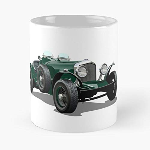 Bentley Car Vintage Retro Coffee Mug Gift 11 Oz Father Day ()