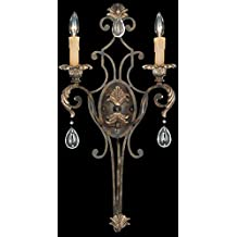 Savoy House 9-7189-2-241 Sconce with Clear Crystals Shades, Moroccan Bronze Finish