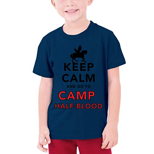 WJGNAA Keep Calm and Go to Camp Half Blood Youth's O Neck Short Sleeve T Shirt Teenage T-Shirt for Girls Boys - Shirt Camp Girls