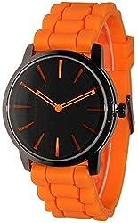 Geneva Orange w/ Black Silicone Jelly Watch