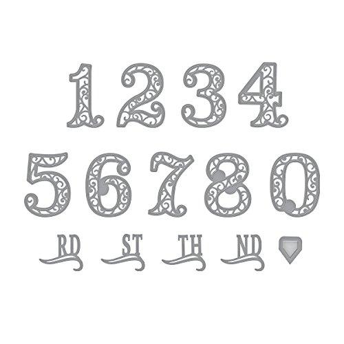 Spellbinders Shapeabilities Filigree Numbers Etched/Wafer Thin Die