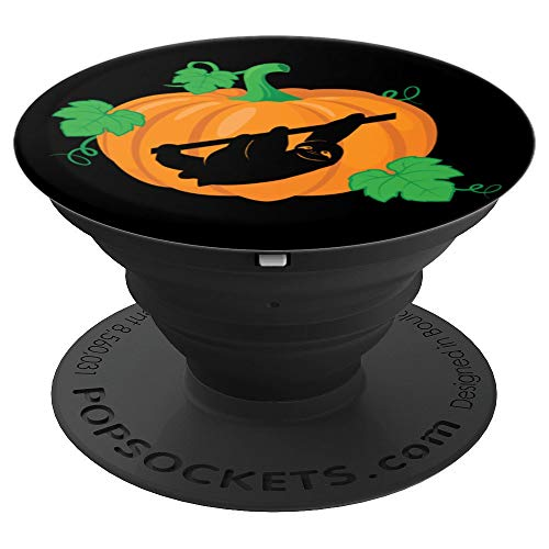 Hanging Sloth Silhouette inside a Pumpkin - Halloween PopSockets Grip and Stand for Phones and Tablets]()
