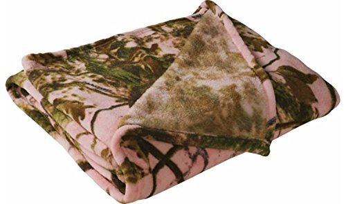 Camouflage Coral Fleece Throw Zonz Woodlands Pink