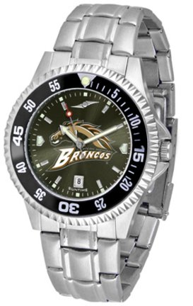 SunTime Western Michigan Broncos Competitor AnoChrome Men's Watch with Steel Band and Colored ()