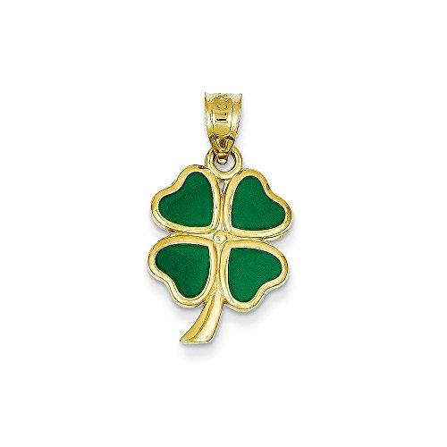 Best Designer Jewelry 14k Enameled Clover Charm 14k Enameled Clover Charm