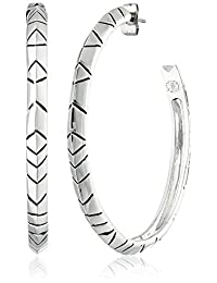 House of Harlow 1960 Engraved Hoop Earrings