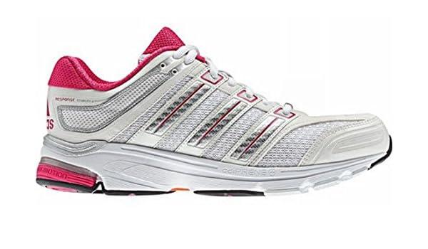 ADIDAS Response Stabil 4 Zapatilla de Running Señora, Blanco/Plata/Rosa, 38: Amazon.es: Deportes y aire libre