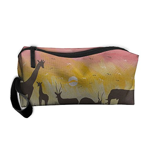 Africa Wild Animal Zipper Up Portable Bag Package For Unisex by DMN