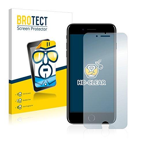 2x BROTECT Pellicola Protettiva Apple iPhone 7 Plus Schermo Protezione – Trasparente, Anti-Impronte