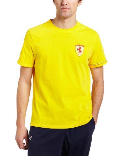 PUMA Men's Ferrari Logo Tee I, Dandelion