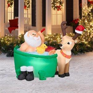 Amazon.com: Navidad decoración césped Yard cláusula de Papá ...