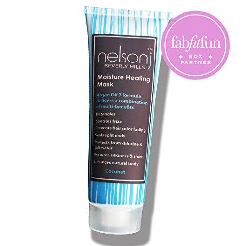 Nelson j Beverly Hills Argan Oil 7 Moisture Healing Mask - Scent: Coconut 3.4 oz (Beverly Hills Moisture)