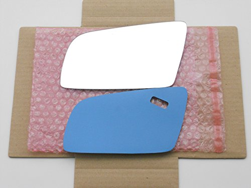 New Replacement Mirror Glass with FULL SIZE ADHESIVE for BMW E60 E61 E63 E64 Driver Side View Left LH