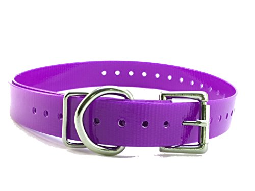 Sparky Pet Co Garmin Compatible 3/4' High Flex Waterproof Roller Buckle Dog Strap, Purple