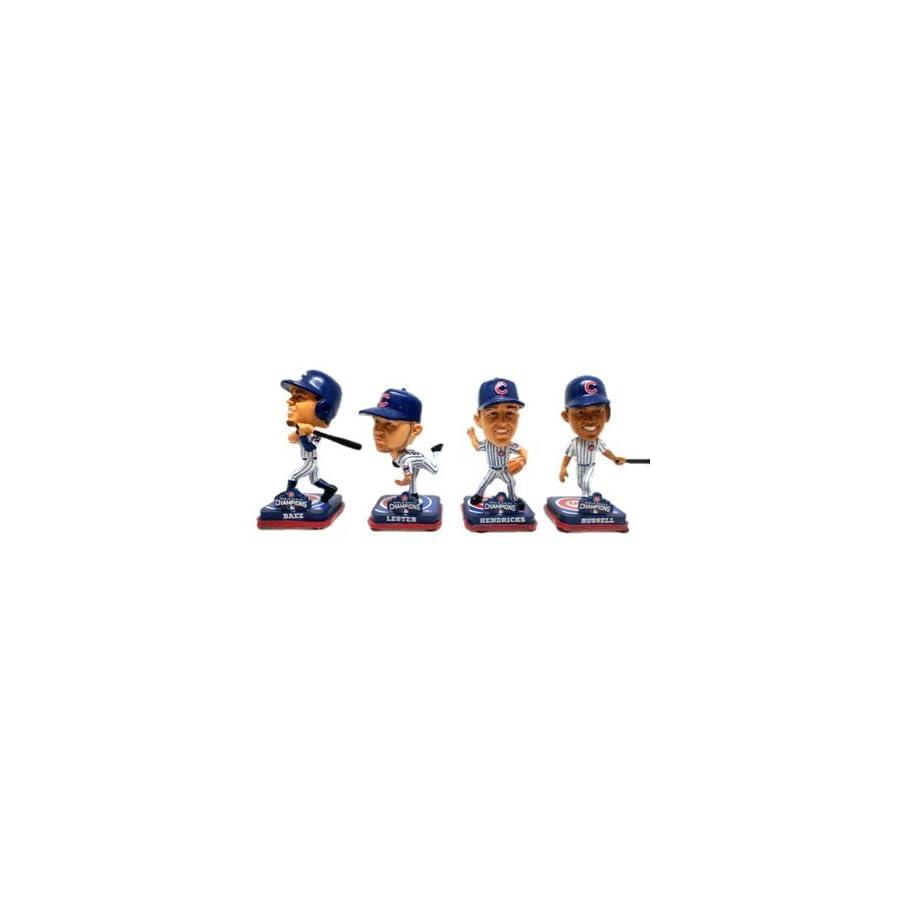 Chicago Cubs 2016 World Series Mini Bobblehead Set Baez Russell Hendricks Lester