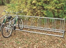 Double Entry Bike Rack (5 ft. Permanent (65 lbs.): Holds 9 bikes)