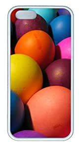 Colorful Easter Eggs 2 TPU White custom made iphone 5S cases for Apple iPhone 5/5S