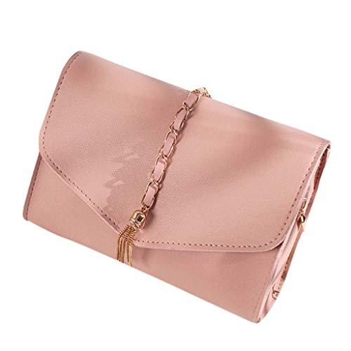 (Outique Crossbody Satchel Bag Shoulder Bag Laptop Bag, Purse and Tote Handbags Lady Tassel Letter Purse Mobile Phone)