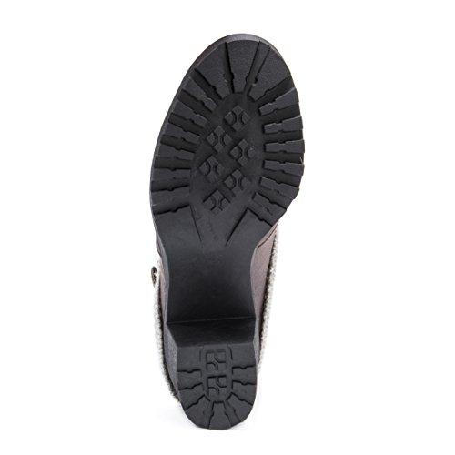 Heeled Wheeled Oatmeal LUKS MUK Heel Christa Shoe Boots Women's HtPxqUB