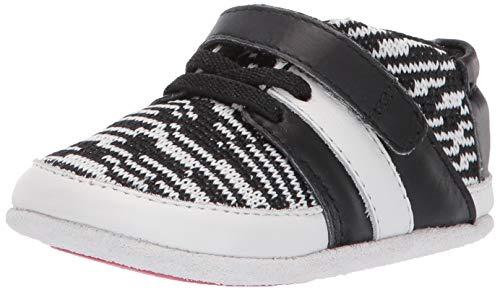 (Robeez Boys' Low Top Sneaker-Mini Shoez Crib Shoe, Black/White, 18-24 Months)